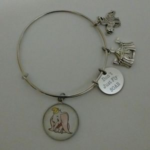 Disney Dumbo Silver Bangle Bracelet
